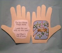 Spring Handprint Card - Kids Crafts