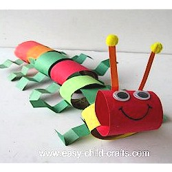Cardboard Tube Caterpiller - Kids Crafts