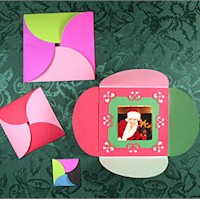 Squared Circle Card - Kids Crafts