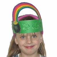 preschool crafts for kids st patrick s day printable headband hat
