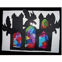 Stained Glass Gargoyles - Kids Crafts