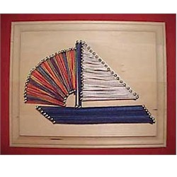 Sailboat String Art - Kids Crafts