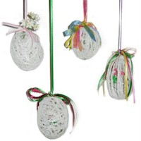 String Art Easter Egg Ornament Craft