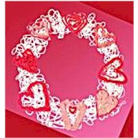 String Art Valentine Wreath Craft