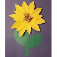 Paper Sunflowers - Kids Crafts