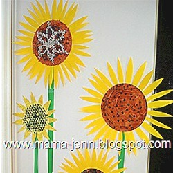 Sunflower Door Design - Kids Crafts
