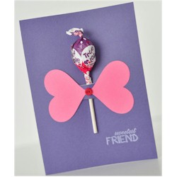 Sweetest Friend Lollipop Card - Kids Crafts