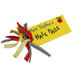 Teachers Hall Pass - Kids Crafts