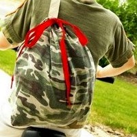 Recycled Tee Shirt Backpack Craft
