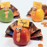 Thanksgiving Apple Placecards - Kids Crafts