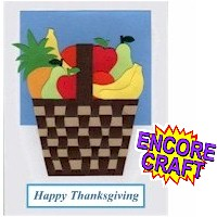 Thanksgiving Woven Paper Fruit Basket Card Craft
