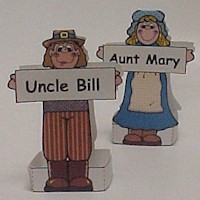 Print a Pilgrim Placecard - Kids Crafts