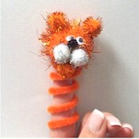 Tiger Finger Puppet - Kids Crafts