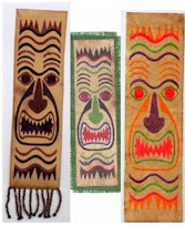 Tiki Tapa Bookmarks - Kids Crafts