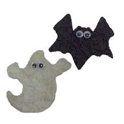 Tissue Paper Halloween Magnets - Kids Crafts