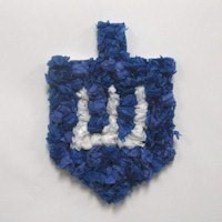 Tissue Paper Dreidel Craft