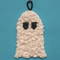 Tissue Paper Ghost Decoration Craft