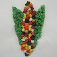 Tissue Paper Indian Corn - Kids Crafts