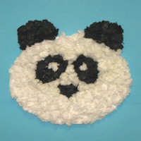 Tissue Paper Panda Bear Craft