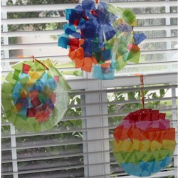 Tissue Paper Sun Catchers Craft