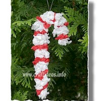 Tissue Paper Candy Cane Craft