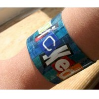 Toilet Paper Roll Bracelet Craft