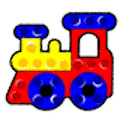 Train Dot Art Craft