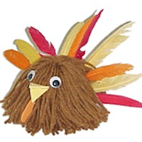 Turkey Yarn Bug - Kids Crafts
