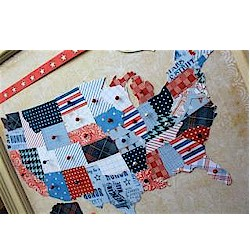 Patriotic Map - Kids Crafts
