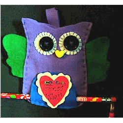 Valentine Felt Owl - Kids Crafts