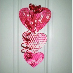 Bubble Wrap Valentine Mobile Craft