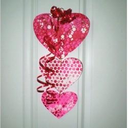 Bubble Wrap Valentine Mobile Craft