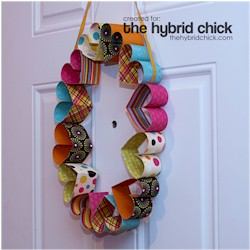 Paper Heart Wreath - Kids Crafts