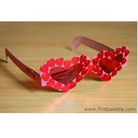 Fun Valentine Glasses - Kids Crafts