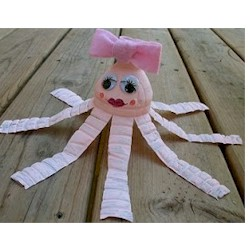 Recycled Water Bottle Octopus - Kids Crafts