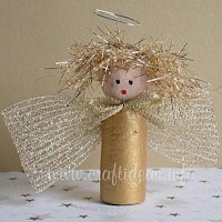 Wine  Cork Angel - Kids Crafts