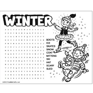 Winter Wordsearches | New Calendar Template Site