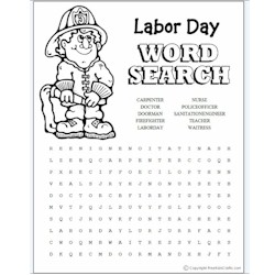 Labor Day Word Search - Kids Crafts