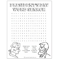 Printable President's Day Word Puzzles Craft
