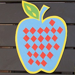 Woven Apple - Kids Crafts