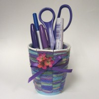 Woven Desk Caddy - Kids Crafts