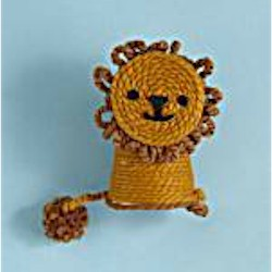 Yarn Wrapped Lion Craft