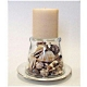 Easy candle holder made with seashells