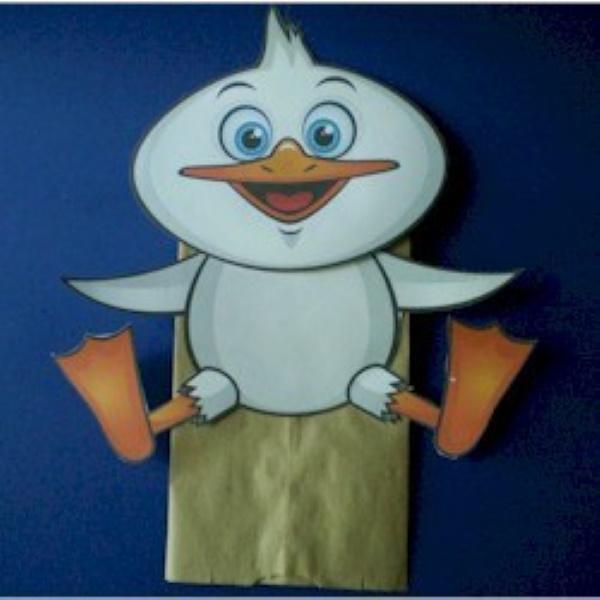 Paper Bag Duck Puppet Craft