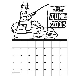 Image of 2013 June Coloring Calendar