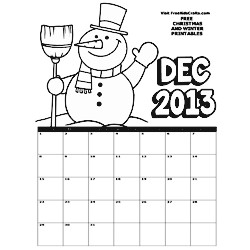 Image of 2013 December Coloring Calendar