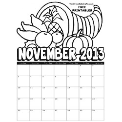 Image of 2013 November Coloring Calendar