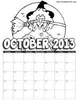 Image of 2013 october coloring calendar