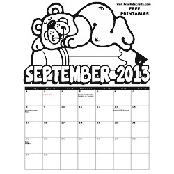 Image of 2013 September Coloring Calendar