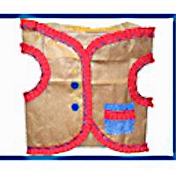 Recycled Grocery Bag Vest Craft